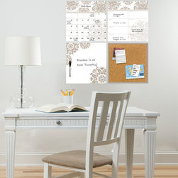 Back to School 2014 - Trendy and chic office decor idea with the Kolkata organization kit. Would look great in a dorm room or teen decor as well
