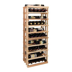 Wine Cellar Innovations - 4 ft. Open Vertical Display Wine Rack (All-Heart Redwood - Midnight Black Stain) - Choose Wood Type and Stain: All-Heart Redwood - Midnight Black StainBottle capacity: 45. Custom and organized look. Versatile wine racking. Displays five wine bottles left to right, or three wine bottles front to back. Can accommodate just about any ceiling height. Optional base platform: 18 in. W x 13.38 in. D x 3.81 in. H (5 lbs.). Wine rack: 18 in. W x 13.5 in. D x 47.19 in. H (4 lbs.). Vintner collection. Made in USA. Warranty. Assembly Instructions. Rack should be attached to a wall to prevent wobbleThe Vintner Series Open Vertical Display provides the perfect showcase for the prized wine bottles you would like to show off.. Rack should be attached to a wall to prevent wobble
