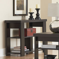 Ameriwood - Hollowcore Console Table - Features: -Hollowcore collection. -Black forest finish. -Contemporary design. -Top shelf weight capacity: 100 lbs. -Middle shelf weight capacity: 100 lbs. -Each of bottom shelf weight capacity: 50 lbs. -Made in USA. -Manufacturer provides one year warranty.