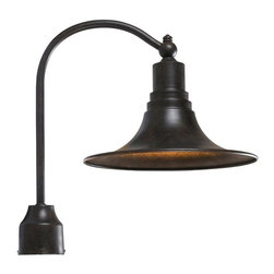 World Imports - Dark Sky Kingston Outdoor Post Light, Bronze - Aluminum and brass fixture is ideal for outdoor installation