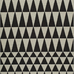 "Laguna LG-10 Black Rug - 3'6""x5'6"" - Geometric patterns, vibrant colors and chic simplicity all collaborate to make the flat-weave Dhurry collection, Laguna. Made in India of 100% wool, Laguna utilizes a vibrant color palette that plays off geometric patterns often found in paving stones, basket weaves and nature."