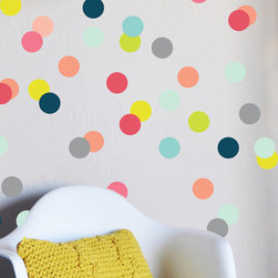 The Lovely Wall Co. - Colorful Confetti Dots Wall Decal - Please note that metallic vinyl is not reusable.