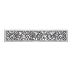 """Inviting Home - Kensington Pulls (antique pewter) - Kensington pulls in antique pewter finish; 5-1/4""""W x 1""""H; Product Specification: Made in the USA. Fine-art foundry hand-pours and hand finished hardware knobs and pulls using Old World methods. Lifetime guaranteed against flaws in craftsmanship. Exceptional clarity of details and depth of relief. All knobs and pulls are hand cast from solid fine pewter or solid bronze. The term antique refers to special methods of treating metal so there is contrast between relief and recessed areas. Knobs and Pulls are lacquered to protect the finish. Alternate finishes are available. Detailed Description: Charm... European Artistry... Expert Craftsmanship. Scallops flourishes acanthus and olive leaves are classic and elegant design elements that never go out of style. This skillfully crafted hardware is inspired by the streets of London - Kensington Chelsea Portobello Road and Pembridge all historic yet fashionable locales. This collection is oversized for today�s interiors and the substantial pieces will add drama and beauty to your home."""