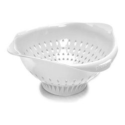 Preserve - Preserve Large Colander - White - 3.5 Qt - Powered by Leftovers