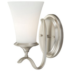 Traditional Wall Sconces Sonora Satin Nickel Wall Sconce