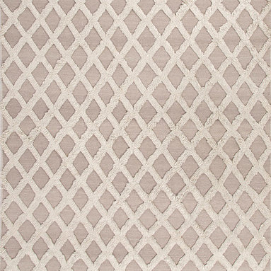 Notion NON03 Rug - 2'x3' - A combination of flat-weave and shaggy pile gives defines this dimensional rug. Modern and eclectic this rug makes a statement in any room.