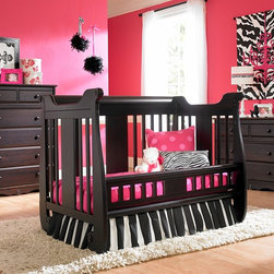 Generation Next Crib converted in Toddler Bed - •Converts to a toddler bed (toddler rail included) and to full-size bed
