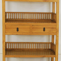 Asian Bookcase, Display & Curio Cabinet - Asian Bookcase