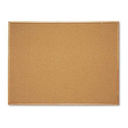 Quartet 48 x 36 in. Cork Bulletin Board with Natural Cork Frame - The Quartet 48 x 36 in. Cork Bulletin Board with Natural Cork Frame can be used to conveniently display important notices, bulletins and newsletters. This board is made from durable cork material that's self-healing and sturdy. It's a staple accessory in every office because of its style and versatility. Featuring an attractive frame, the board is visually impressive. Because it has an Easy-Mount hanging system, the bulletin board is secure and convenient to use as well.About United StationersDedicated to making life in the office more organized, efficient, and easier, United Stationers offers a wide variety of storage and organizational solutions for any business setting. With premium products specifically designed with the modern office in mind, we're certain you will find the solution you are looking for.From rolling file carts to stationary wall files, every product in the United Stations line is designed with one simple goal: to improve office efficiency. In turn, you will find increased productivity, happier, more organized employees, and an office setting that simply runs better, with the ultimate goal of increasing bottom line profits.