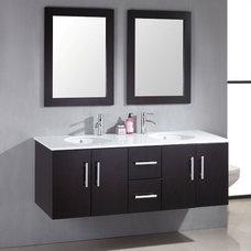 Master Bath Gut and Remodel / Cambridge 59 inch Double Basin Sink Vanity Set