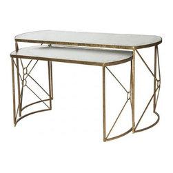 Aidan Gray - Aidan Gray Viceroy Nested Coffee Tables Set - Viceroy Nested Coffee Tables Set by Aidan Gray.