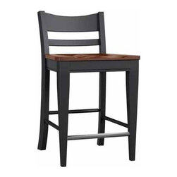 Broyhill Furniture - Color Cuisine Low Back Counter Stool (Set of 2) - 5200-306 - Color Cuisine Collection Counter Stool