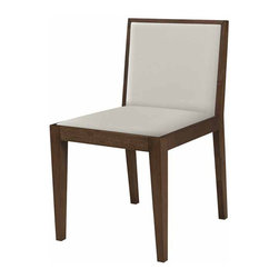 Nuevo Living - Bethany Dining Chair, White, Set of 2 - Cleanliness is next to godliness, they say. That would make the clean lines, solid birch frame and white leather upholstery of this dining chair quite a divine find. And since most would opt for a dining room that's more heavenly haven than grub shack, this chair glows with modern decor possibilities.