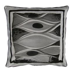 LaDu for Decorative Philosophy - Reproduction WatercolorPalm Pillow - 100% cotton.