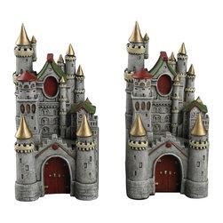 Sterling Industries - Princess Castle Book Ends - Princess Castle Book Ends