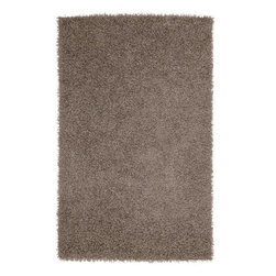 "Surya - Surya 1'9 x 2'10 Vivid Plush Rectangle Rug, Dark Taupe (VIV802-193) - Surya VIV802-193 1'9"" x 2'10"" Vivid Plush Rectangle Rug, Dark Taupe"