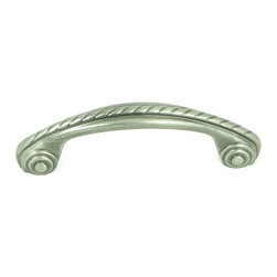 """Stone Mill Hardware - Stone Mill Hardware -Palermo Weathered Nickel Rope Cabinet 3"""" Pull - Weathered nickel finish. Stylish arch pull with raised rope twist along the length of the piece. Layered rings on the ends. Solid, high-quality cabinet hardware."""