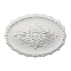 uDecor - MD-5149 Ceiling Medallion - Ceiling medallions and domes are manufactured with a dense architectural polyurethane compound (not Styrofoam) that allows it to be semi-flexible and 100% waterproof. This material is delivered pre-primed for paint. It is installed with architectural adhesive and/or finish nails. It can also be finished with caulk, spackle and your choice of paint, just like wood or MDF. A major advantage of polyurethane is that it will not expand, constrict or warp over time with changes in temperature or humidity. It's safe to install in rooms with the presence of moisture like bathrooms and kitchens. This product will not encourage the growth of mold or mildew, and it will never rot.