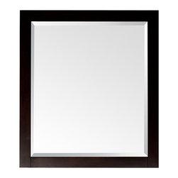 None - Avanity Lexington 24-inch Mirror in Light Espresso Finish - Mirror in Light EspressoColor: BlackMaterials: Glass,Wood