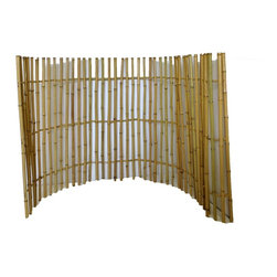 "Master Garden Products - Ornamental Bamboo Fence, 72""H x 48""W x 48""H - This bamboo ornamental fence features a leveled top with spaced bamboo poles. The rolled fences are put together by threading mature bamboo poles with the bamboo rings spaced between the poles to give it a more open look. The spaced pole design of the ornamental fencing allows you to showcase your property while also securing it."