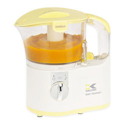 Kalorik - Kalorik Yellow Baby Food Maker (Refurbished) - Use the Kalorik Yellow Baby Food Maker to know exactly what is the food your giving to your baby. This food maker features a clear tank and basket for easy viewing and a powerful steamer to cook food in very short time.
