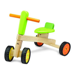 Wonderworld - Wonderworld Wonder Riding Push Toy Multicolor - WW-1539 - Shop for Tricycles and Riding Toys from Hayneedle.com! About Wonderworld by Smart GearAs a strong advocate of protecting the environment Wonderworld insists on using only rubber-wood that is a replenishable source that's widely accepted throughout the world as an environmentally-friendly material. Rubber-wood is a by-product from the culling of rubber trees in excess of 25 years of age that can no longer produce latex for commercial application and need to be replanted. This means not only is deforestation avoided but every part of the tree is used to its fullest. Wonderworld strictly adheres to their policy of only non-toxic colors and lacquers on their toys. Wonderworld uses only water-based wood paint for their wooden toys. This minimizes child exposure to chemicals use of underground fossil fuel CO2 emission and chemical waste released into the environment.