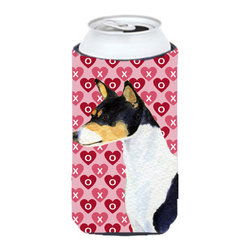 Caroline's Treasures - Basenji Hearts Love and Valentine's Day Portrait Tall Boy Koozie Hugger - Basenji Hearts Love and Valentine's Day Portrait Tall Boy Koozie Hugger Fits 22 oz. to 24 oz. cans or pint bottles. Great collapsible koozie for Energy Drinks or large Iced Tea beverages. Great to keep track of your beverage and add a bit of flair to a gathering. Match with one of the insulated coolers or coasters for a nice gift pack. Wash the hugger in your dishwasher or clothes washer. Design will not come off.