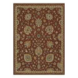 """Loloi Rugs - Hand Knotted Laurent Transitional Rug LRNTLE-01RU00 - 2'-0"""" x 3'-0"""" - Hand-knotted of 100% wool from India, the Laurent Collection features a series of soumak rugs that add a touch of casual elegance to traditional and transitional rooms alike. Available in a series of hand-dyed earthy colors."""