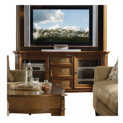 Hooker Furniture - Hooker Furniture Windward 62 Inch TV Console in Light Brown Cherry - Hooker Furniture - TV Stands - 112556480 - Envision furniture with a relaxed and laid back feeling.