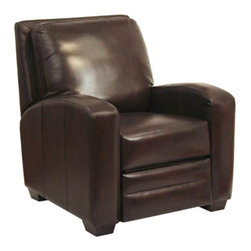 Catnapper - Catnapper Avanti Bonded Leather No Handle Reclining Chair in Chocolate - Catnapper - Recliners - 5518121009301009 - The Avanti Collection by Catnapper presents a great multi-position recliner upholstered in durable Valentino bonded leather-touch. Features include Elegantly Sloped Radius Arms, Relaxing Picture Frame Back and Exposed wood Legs. This Handle Free Recliner is available in chocolate and mink. With this wonderful recliner you will experience personal therapy while relaxing in comfort!