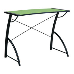 Office Star - Office Star Trace Reversible Desk In Caliste Green And Black Top - Trace Reversible Desk In Caliste Green And Black Top by Office Star