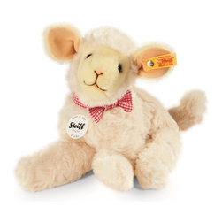 Steiff - Steiff Flocky Lamb - Steiff Flocky Lamb is made of cuddly soft cream plush. Ages 3 and up. Machine washable. Handcrafted by Steiff of Germany.