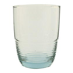 Be Home - Recycled Glass Tumbler, Set Of 6, Small - Sometimes all you need is a classic tumbler in a perfect shape to show your beverage in its best light. This set of six glasses has ridged bases for extra detail and is made of 100 percent recycled soda bottles so you can drink responsibly.