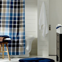 Palmer Plaid Shower Curtain - Bring a pop of powerful plaid to your powder room with this shower curtain.