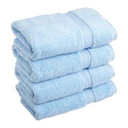 Luxurious Egyptian Cotton 900 Gram 4-Piece Light Blue Hand Towel Set - Luxurious Egyptian Cotton 900GSM 4pc Light Blue Hand Towel Set