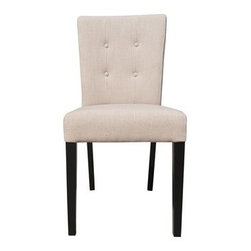 Moe's Home Collection - Moe's Home Collection Porto Taupe Dining Side Chair (Sold in Multiples of 2) - Moe's Home Collection loves beautiful furniture accessories and decor and so do the people who shop their brand. Because of that they make a point of putting their customer first. As a family-owned business for over 20 years Moe's Home Collection understands how important your home is. It's a place that reflects who you are but it also needs to be practical and beautiful. Moe's Home Collection believes in feeling good about the home environment. When you purchase a piece from Moe's Home Collection you'll sense the care and attention they've put into their selections. You'll find unique items that they've designed to suit the most discerning tastes. Features include 60% linen 40% polyester Seat Height: 20.