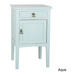 None - Wooden Nightstand - Accent your child's bedroom decor with this attractive wooden nightstand. This unusual piece features a roomy cabinet and drawer for storing bedside essentials and is available in several colors, so you can easily match other furnishings.