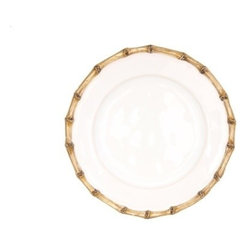 "Juliska - Juliska Classic Bamboo Side Plate Natural - Juliska Classic Bamboo Side Plate NaturalThis companion plate adds an extra lovely layer to table settings. The classic bamboo rim pays homage to tradition while a salad served with edible petals adds a modern twist. Dimensions: 7.5"" W"