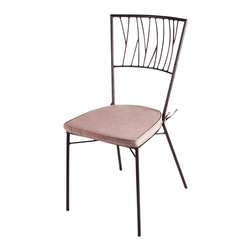 New Rustics - New Rustics Mosaic Twig Chair in Wrought Iron - This new collection brings an artsy street-style cafe look to any outdoor living space. Handmade with wrought iron and unusual handcut rustic slate, pebbles, and glazed tile inlay patterns, these pieces also compliment indoor decor with natural colors and streamlined designs.
