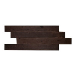 Reclaimed Wood Tile - Boardwalk 2x18 Gunstock, Gunstock - Reclaimed Wood Tile | Boardwalk 2x18 | 1 Sheet of 1 Sf of Tile