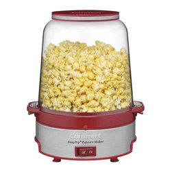 Cuisinart - Cuisinart EasyPop Popcorn Maker - Movie night at your place just got a lot more fun. Make up to 16 cups of popcorn quickly and easily with this sturdy unit that boasts a motorized stirring arm for even mixing.