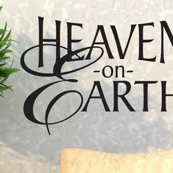 Decals for the Wall - Wall Decal Quote Sticker Vinyl Art Lettering Heaven on Earth Religious God R37 - This decal says ''Heaven on Earth''