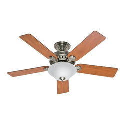 Hunter - Hunter Pros Best 5 Minute Fan ENERGY STAR Ceiling Fan in Brushed Nickel - Hunter Pros Best 5 Minute Fan ENERGY STAR Model HU-53249 in Brushed Nickel with Reversible Chestnut/Maple Finished Blades.