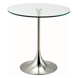 Coronet Accent Table, Satin Steel