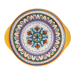 "Ceramic - Deruta Geometric 12"" Decorative Plate - Deruta Geometric 12"" Decorative Plate"