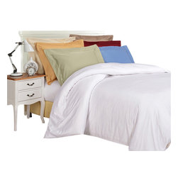 Bed Linens and More - Egyptian Cotton 1000 Thread Count Solid Duvet Cover Sets, Full/Queen Ivory - 1000 Thread Count Solid Duvet Cover Sets