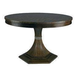 """Hickory White - Hickory White Paxton Base and 60""""Dia Walnut Top Dining Table 550-06_552-14 - Hickory White Paxton Base and 60""""Dia Walnut Top Dining Table 550-06_552-14."""