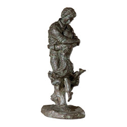 Uttermost - Welcome Home Oil Rubbed Bronze Figurine - Oil rubbed bronze patina with a verdigris glaze.