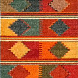 Jaipur - Southwestern/Lodge Anatolia 2'x3' Rectangle Red Oxide-Red Oxide Area Rug - The Anatolia area rug Collection offers an affordable assortment of Southwestern/Lodge stylings. Anatolia features a blend of natural Red Oxide-Red Oxide color. Flat Weave of 100% Wool the Anatolia Collection is an intriguing compliment to any decor.