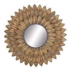 Unique and Kingly Metal Wall Mirror - Description: